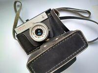 Lomo Smena 8M Triplet-43 4/40 35mm Vintage Soviet USSR Compact & Case with strap