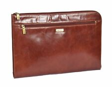 Genuine Leather Conference File Folio Documents A4 Organiser Tablet Underarm Bag