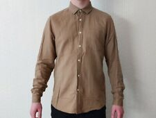 ASOS plain/oxford shirt - mens - size M medium - light brown - pre-owned