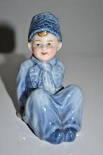 ANTIQUE GERMAN PORCELAIN FIGURINE SWEET YOUNG DUTCH BOY - NIPPES c1900