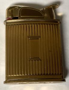 Vtg Art Deco 40's EVANS GOLD TONE METAL POCKET CIGARETTE LIGHTER USA VERY NICE!