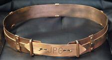 VTG vintage OOAK Rare Jean Paul Gaultier couture runway Belt Copper Bronze