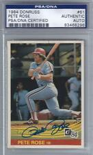 1984 Pete Rose Donruss Signed/Auto Card #61... PSA/DNA Certified Authentic