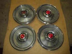 """1968 68 Chrysler Newport Hubcap Rim Wheel Cover Hub Cap 14"""" OEM USED 324 SET 4"""