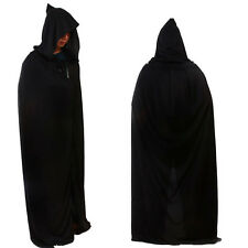 Schwarz Kapuzenumhang Halloween Kostüme Kostüm Erwachsene Tod Reaper Dämon DE