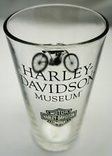 HARLEY DAVIDSON MUSEUM BEER PINT GLASS 1903 MOTORCYCLE LARGE PRINT ON 2 SIDES!