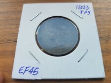 Canada coin,1 Cent, 1893, TP9, C4, Repunched 9, Very rare.