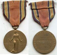 WW2 USA MEDAILLE COMMEMORATIVE 1941-1945 ANCIENNE RUBAN MONTéE POUR FRANCAIS