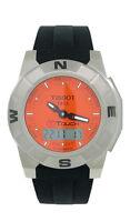 Tissot T-Touch T001.520.47.281 Men's Orange Analog Digi Titanium Silicone Watch