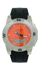 Tissot T-Touch T001.520.47.281 Men's Orange Analog Digi Titanium Silicone Watch