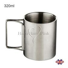 Outdoor Camping Hiking Stainless Steel Mug Cup with Cover 320ML