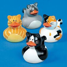 KITTY CAT ASSORTED RUBBER DUCK DUCKIES (LOT OF 12) FUN FAVORS OR DECORATIONS
