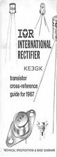 IOR International Rectifier Transistor Cross Reference 1967 * PDF * CDROM