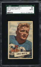 1952 Bowman Small #52 James Martin Proof SGC Authentic