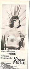 PUBLICITE 1969  soutien gorgePERELE Vous adorez 'Soleil'