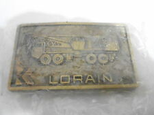 1970s VINTAGE BELT BUCKLE #09- 014 - LDRAIN CONSTRUTION EQUIPEMENT
