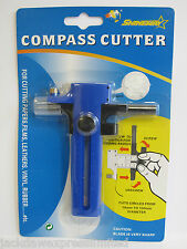 Compass Circle Cutter 10mm-150mm Cutting Papers Film Leathers Vinyl Rubber AM113