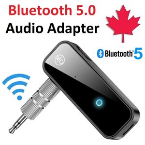 Wireless Bluetooth 5.0 Adapter 3.5mm Aux Audio For Car Mic Music Receiver Stereo