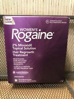 NEW Women Rogaine Unscented Topical Solution 3 Month Supply 3 Bottles JAN 2021