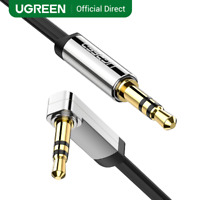 Ugreen 3.5mm 90 Degree Right Angle Flat Jack Audio Cable For Car iPhone MP3/4