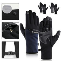Winter Bicycle Gloves Fleece Touchscreen Warm Outdoor Windproof Full Finger MTB