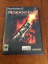 PS2 Resident Evil Outbreak 1 Black Label Playstation 2 Complete