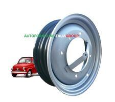 Set 4 cerchi cerchioni in ferro nuovi per Fiat 500 F - L wheels Fiat 500 epoca