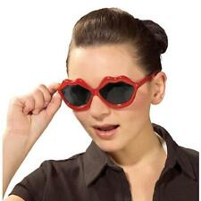 Red Lips Glasses 50's Sock Hop Retro Fancy Dress Halloween Costume Accessory