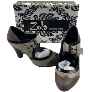 ZOLA COLLECTION   Ladybon   Women's Non Slip Leather Shoes With Buckle   Size 40