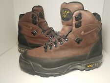 Nike 1990s ACG Brown Leather Vintage Hiking Boots Shoes Men's 9