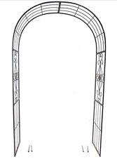 Garden Arch Vienna 2.4m x 1.4m Gardman Metal Arches Wedding Arbour Rustic Finish
