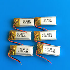 6 pcs 100mAh 3.7V Li Po Battery For Mp3 Video Pen Bluetooth Smart Watch 401225