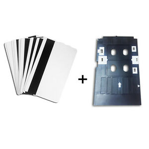 Kit - 10pcs Magnetic Inkjet Printing PVC Card + 1pc ID Card Tray f/ Epson R280