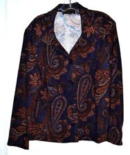 BRIGGS NEW YORK BLUE 97% POLYESTER LONG SLEEVES BLOUSE SIZE 2X MADE IN GUATEMALA