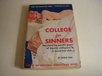 COLLEGE FOR SINNERS by ANDREW SHAW, Nightstand Book #1534, GGA, 1960, Vintage PB