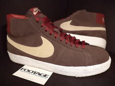 2005 Nike Blazer SB BAROQUE BROWN NET BURGUNDY RED WHITE Sz 11.5