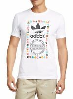 Men's New Adidas Originals Pharrell Williams Trefoil T-Shirt Top - White