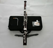 Prof Maple Wooden Mini Bassoon Silver Plating F Key 2 Bocals With Case