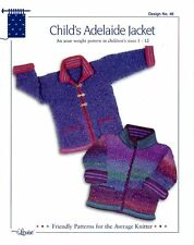 Design by Louise Knitting Pattern #48 Child's Adelaide Jacket Sizes 1-12