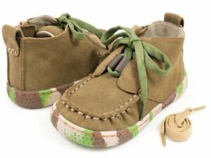 NIB LIVIE & LUCA Shoes Rover Leaf Green Brown Camouflage Toddler 4
