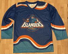 NHL New York Islanders FISHERMAN LOGO Jersey Long Island Mens S SGA STADIUM Euc