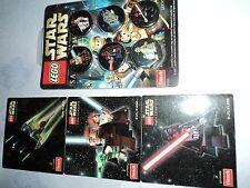 STAR WARS LOT MAGNETS+BADGES SERIE FRANCAISE VERSION LEGO TRES RARE COLLECTION