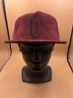 Obey Worldwide New Era Cotton Brown Snapback Hat Baseball Cap Wide Brim Cotton