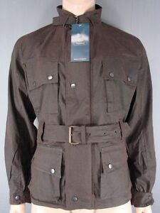 NEW WITH TAGS ROYAL PADDOCK BELTED BROWN WAXED PURE COTTON JACKETS-S/M/L/XL/XXL
