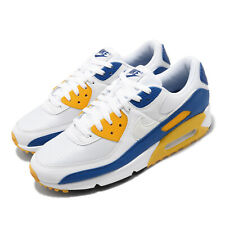 Nike Air Max 90 Knicks Warriors Wolverine White Blue Yellow Men Shoes Ct4352-101