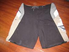 Volcom Black Gray White Board Surf Swim Shorts No Tag Size True Size 38