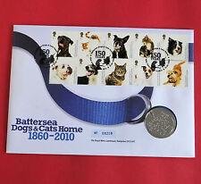 2010 Battersea CANI E GATTI HOME B/UNC MEDAGLIA ROYAL Nuovo di zecca COVER