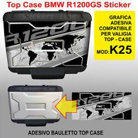 adesivo TOP CASE valigie bauletto BMW R1200GS K25 bussola planisfero borse 2012