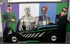 Steve Kaufman - Original Oil Silk Screen Canvas - Batman - Signed - Hollywood