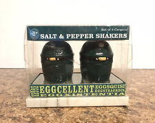 Big Green Egg - Salt and Pepper Shakers - New In Box - Collector Item - Ceramic